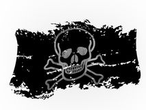 Ragged pirate flag 3d rendering Stock Photo