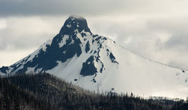 Ragged Pointed Mountain Peak Mt. Washington Oregon Cascade Range Stock Photography