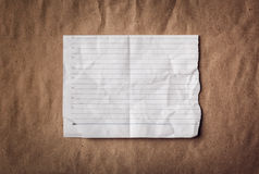 Ragged sheet of notebook Royalty Free Stock Photos
