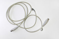 Ragged usb wire. USB-plugs Royalty Free Stock Images