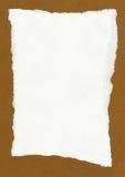 Ragged white paper Stock Photos