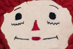 Raggedy Ann Doll Face Closeup Stock Photos