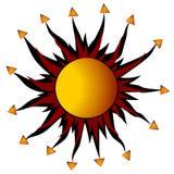 Raggi astratti di disegno di Sun Fotografie Stock Libere da Diritti