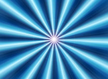 raggi blu Fotografia Stock
