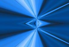 Raggi blu della priorità bassa dell'indicatore luminoso Fotografia Stock