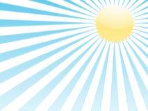 Raggi blu e sole giallo Immagini Stock