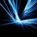 Raggi blu sul nero fotografie stock libere da diritti