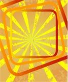 raggi con i quadrati Immagine Stock
