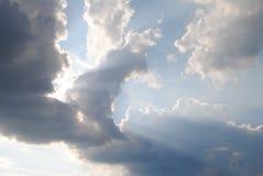 Raggi del sole Fotografia Stock Libera da Diritti