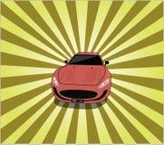 Raggi dell'automobile sportiva Immagine Stock