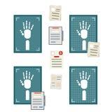 Raggi x della mano bianca umana illustrazione di stock