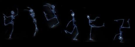 Raggi x dello scheletro di dancing Fotografia Stock Libera da Diritti