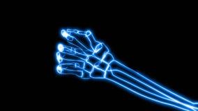 Raggi x di afferrare umano della mano (HD) illustrazione di stock
