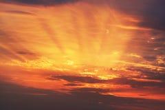 Raggi di alba di alba Immagine Stock