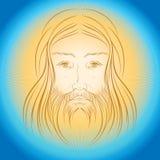 Raggi di gloride della luce di lustro di Jesus Christ Fotografie Stock