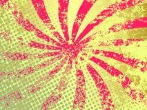 Raggi di Grunge Fotografia Stock