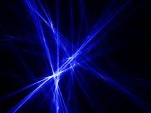 Raggi di indicatore luminoso blu Fotografie Stock Libere da Diritti