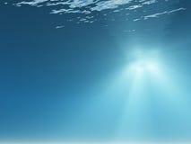 Raggi di indicatore luminoso subacquei illustrazione di stock