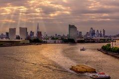 Raggi di sole di Londra Immagini Stock