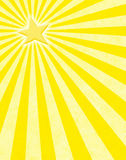 Raggi di sole gialli della stella Immagini Stock