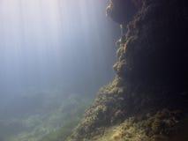 Raggi di sole nell'acqua Immagini Stock Libere da Diritti