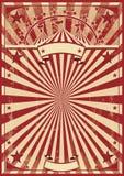 Raggi di sole rossi d'annata Immagini Stock