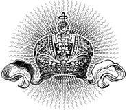 Raggi di Sun e re Crown illustrazione di stock