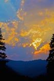 Raggi di Sun sopra Sapphire Mountains Montana Fotografia Stock Libera da Diritti