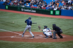 Raggi di Tampa Bay a Toronto Blue Jays Fotografia Stock
