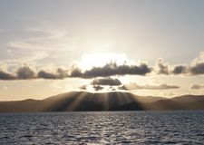 Raggi di tramonto fotografia stock