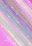 Raggi diagonali colorati con i fiocchi di neve e le luci Immagine Stock