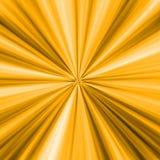 Raggi dorati Immagine Stock