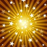 Raggi e stelle di Sun Fotografie Stock Libere da Diritti
