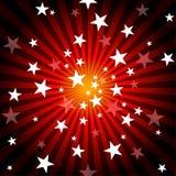 Raggi e stelle di Sun Immagine Stock Libera da Diritti