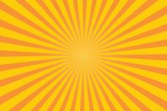 Raggi giallo arancione Brust di Sun fotografie stock