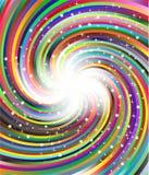 Raggi giranti della parte radiale di colore Fotografie Stock Libere da Diritti