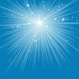 Raggi luminosi e stelle illustrazione vettoriale