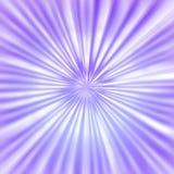 Raggi luminosi radiali in Violet Background illustrazione di stock