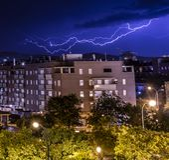 Raggi nella notte fotografie stock libere da diritti