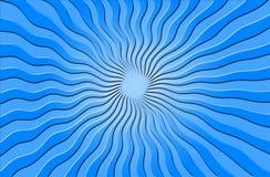 Raggi ondulati blu del sole Fotografia Stock