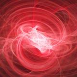Raggi rossi di caos Fotografia Stock