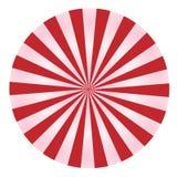Raggi rossi e dentellare in un cerchio Immagine Stock