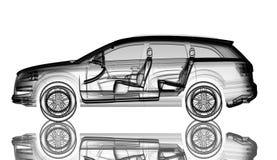 raggi x del modello dell'automobile 3d Fotografie Stock