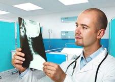 Raggi X dell'assegno del medico Fotografia Stock