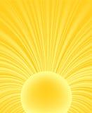 Raggio astratto del sole Immagini Stock