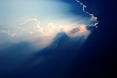 Raggio di indicatore luminoso Fotografia Stock