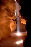 Raggio di sole del canyon della scanalatura Fotografie Stock