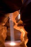 Raggio di sole del canyon della scanalatura Immagini Stock