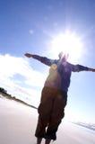 Raggio di sole e donna fotografia stock libera da diritti