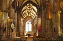 Raggio di sole nella chiesa della st Marys a Haddington Fotografia Stock